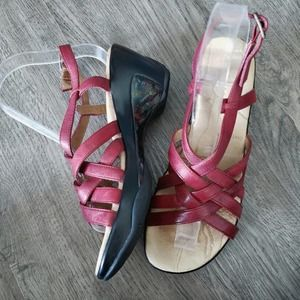 J-41 Purple Pink Sandals Strappy 41 9 Shoes